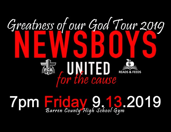 Newsboys concert Sept. 13, 2019 at 7pm