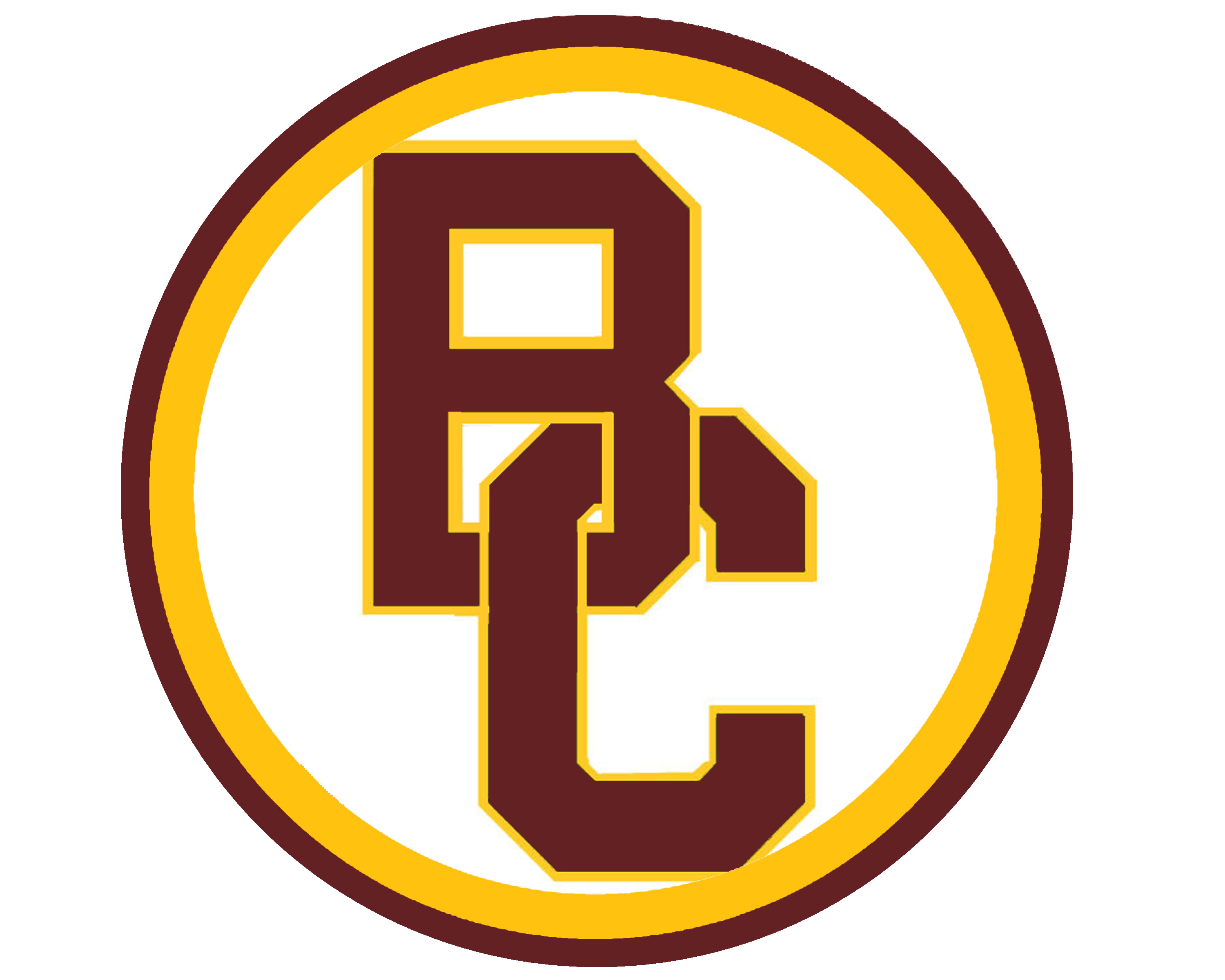 circle BC logo burgundy and gold