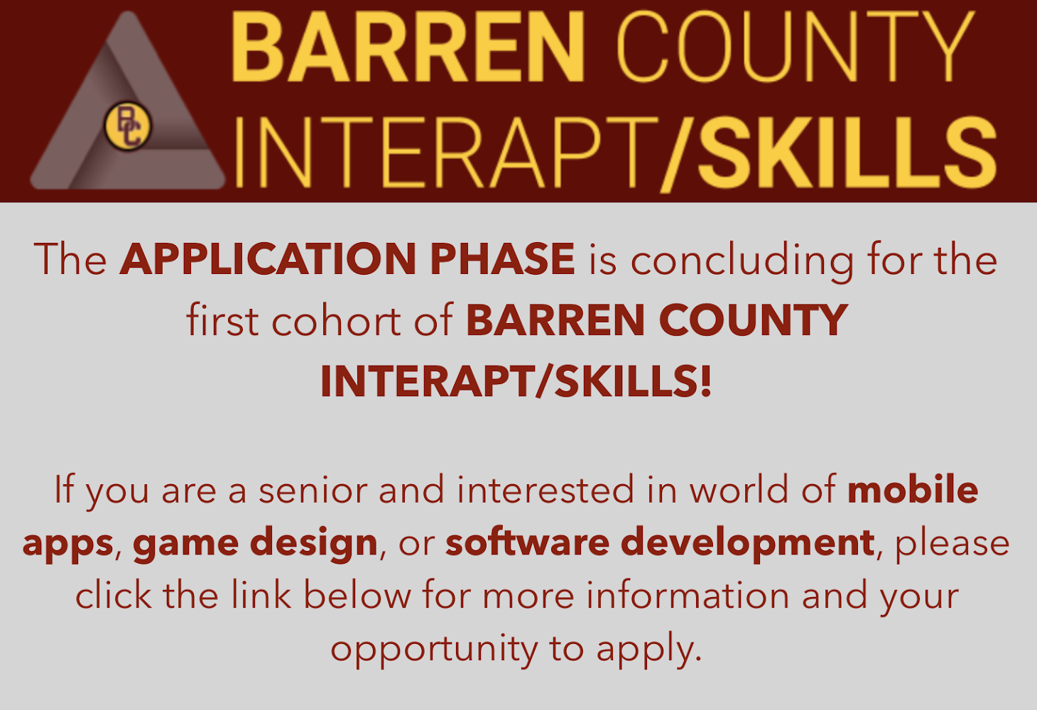Barren Co Interapt Skills Graphic