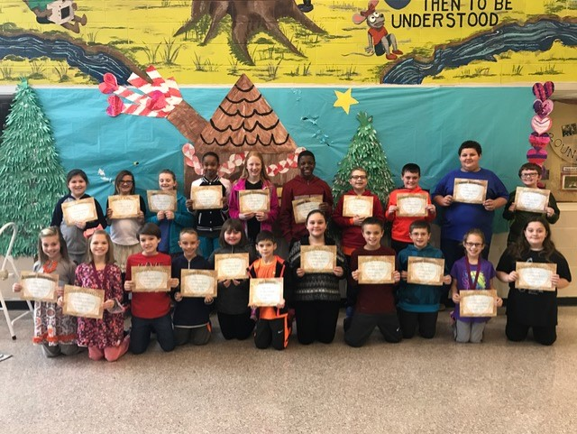 Students who participated in the spelling contest for RCE!