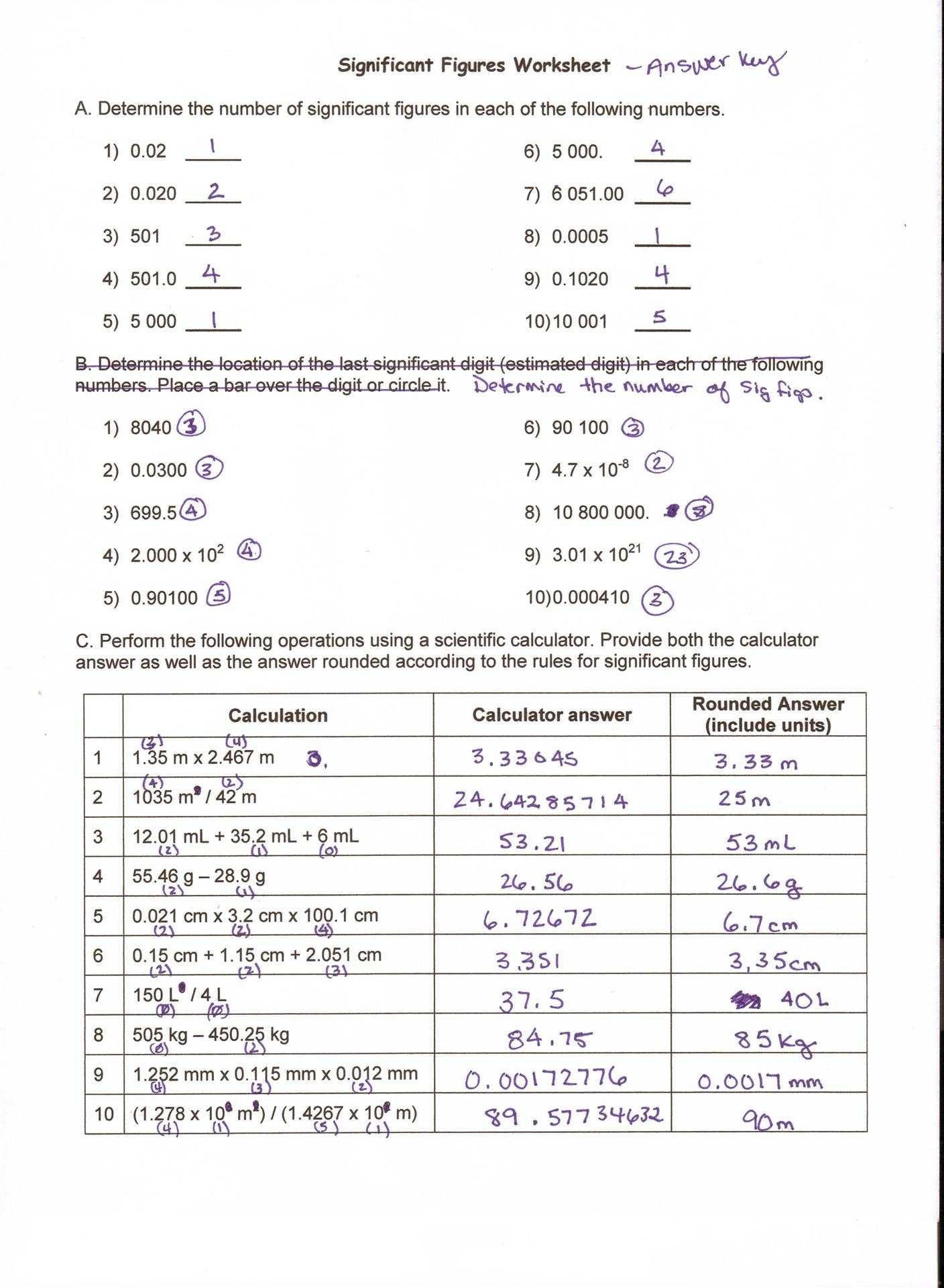 Worksheets Momentum Worksheet Answer Key sig fig worksheet answer key jpg key